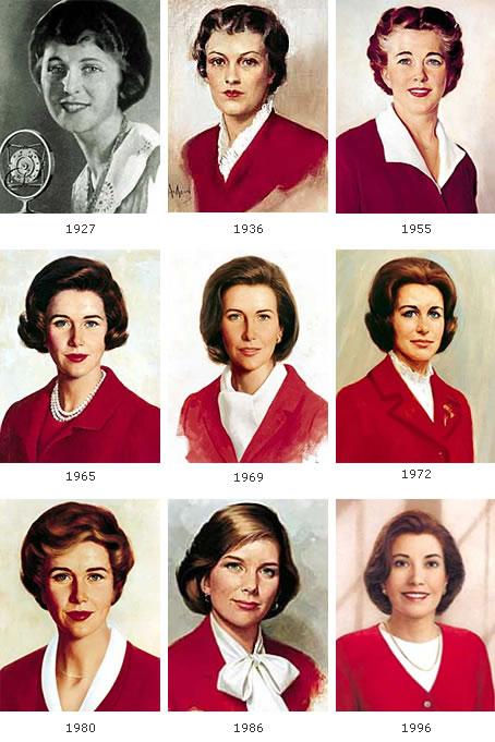 Les visages de Betty Crocker au fil des ans