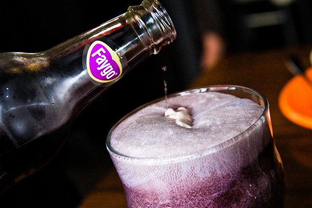 Recette Purple Cow rootbeer float