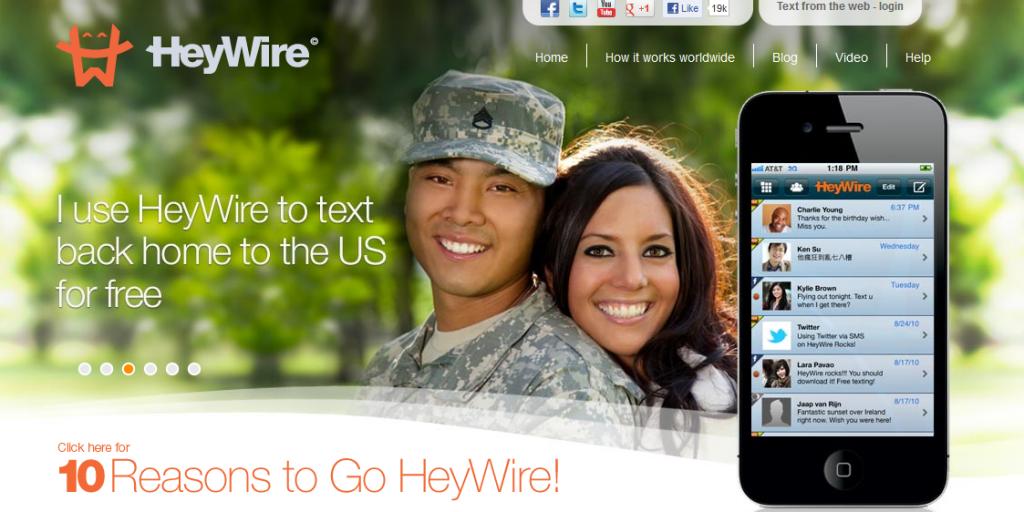 Application pour communiquer gratuitement vers l'étranger HeyWire