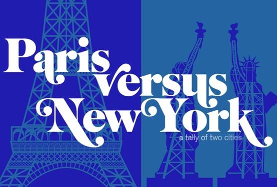 Livre Paris versus New York