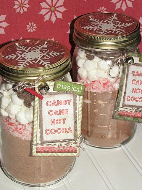 Cookies en bocaux aux candy cannes