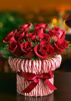 ramo de flores con candy canes