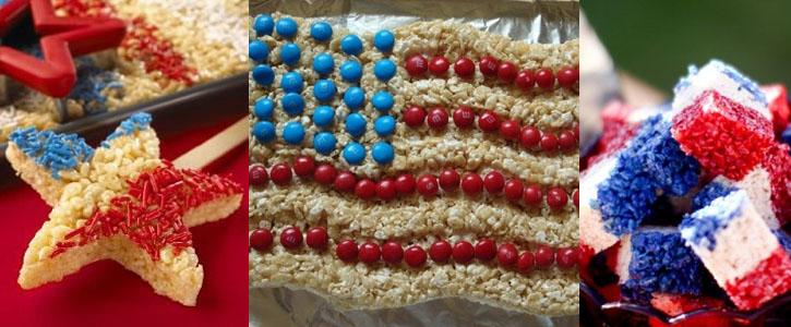 Idées décoration Rice KrispiesTreats pour le 4th of July Américain
