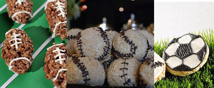 Idées décoration Rice Krispy Treats sur le thème des sports américains