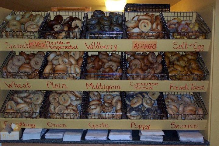 Différentes variétés de bagels US