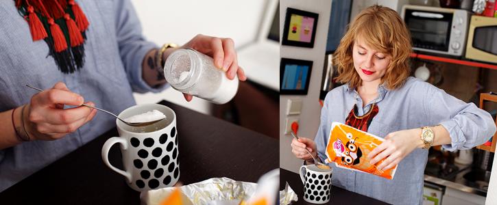 Préparation des Mugs Cakes par JuicesAndCakes