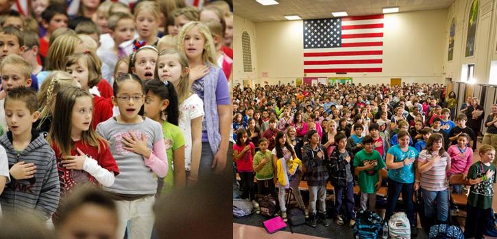 hymne américain à l'école
