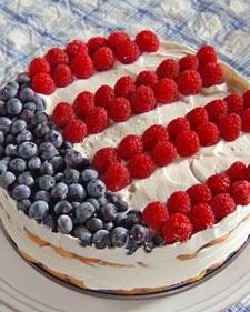 Gâteau tricolore pour fête nationale américaine ou française