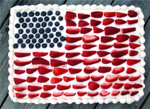 Gâteau génoise en forme de drapeau tricolore