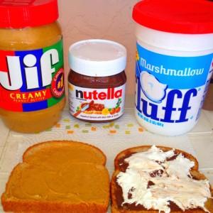 Fluffer Nutter sandwich au Nutella