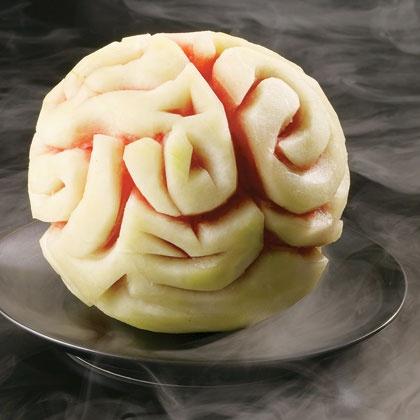 Pastèque cerveau pour décoration Halloween