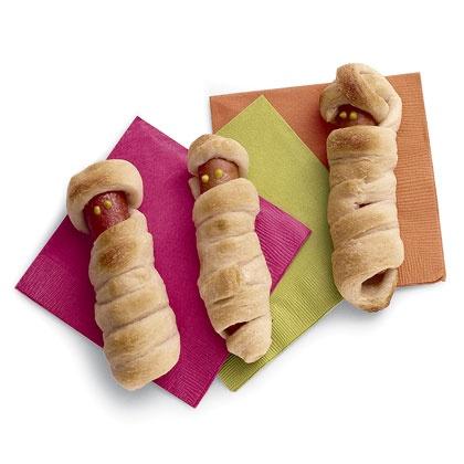 Recette des mommies saucisses en pâte feuilletée pour Halloween