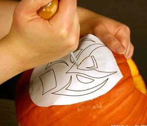 Mod les pour citrouille d 39 halloween motifs gratuits imprimer et d couper blog cuisine - Comment creuser une citrouille ...