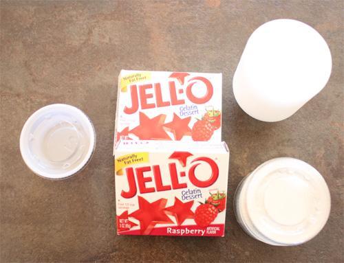 Les sachets de jello pour faire des jello shots vodka