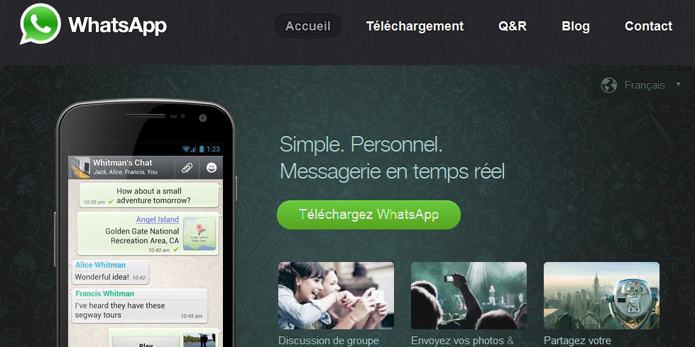 Application pour communiquer gratuitement vers l'étranger WhatsApp