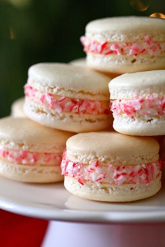 macarons aux candy canes