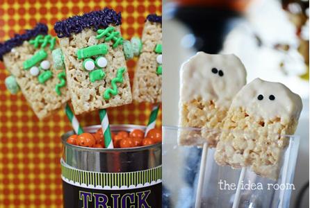 Idées décoration Rice Krispy Treats pour Halloween
