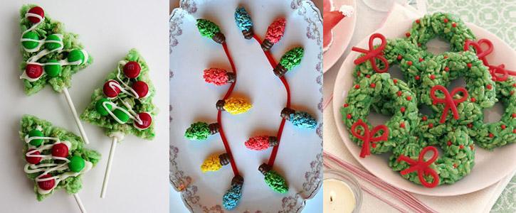 Idées décoration Rice Krispy Treats pour Noël