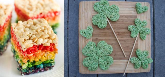 Idées décoration Rice Krispy Treats pour St Paddy's Day