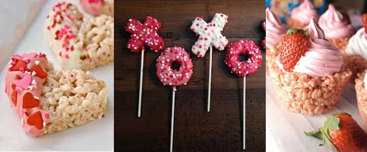 Idées décoration Rice Krispy Treats pour Valentine's Day