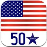 App smartphone Les 50 États des USA - États, capitales et drapeaux des États-Unis