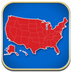 App smartphone Learn the 50 States of the United States of America!