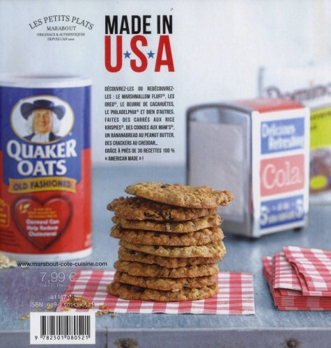 """Livre Marabout """"28 Recettes Made in USA"""""""
