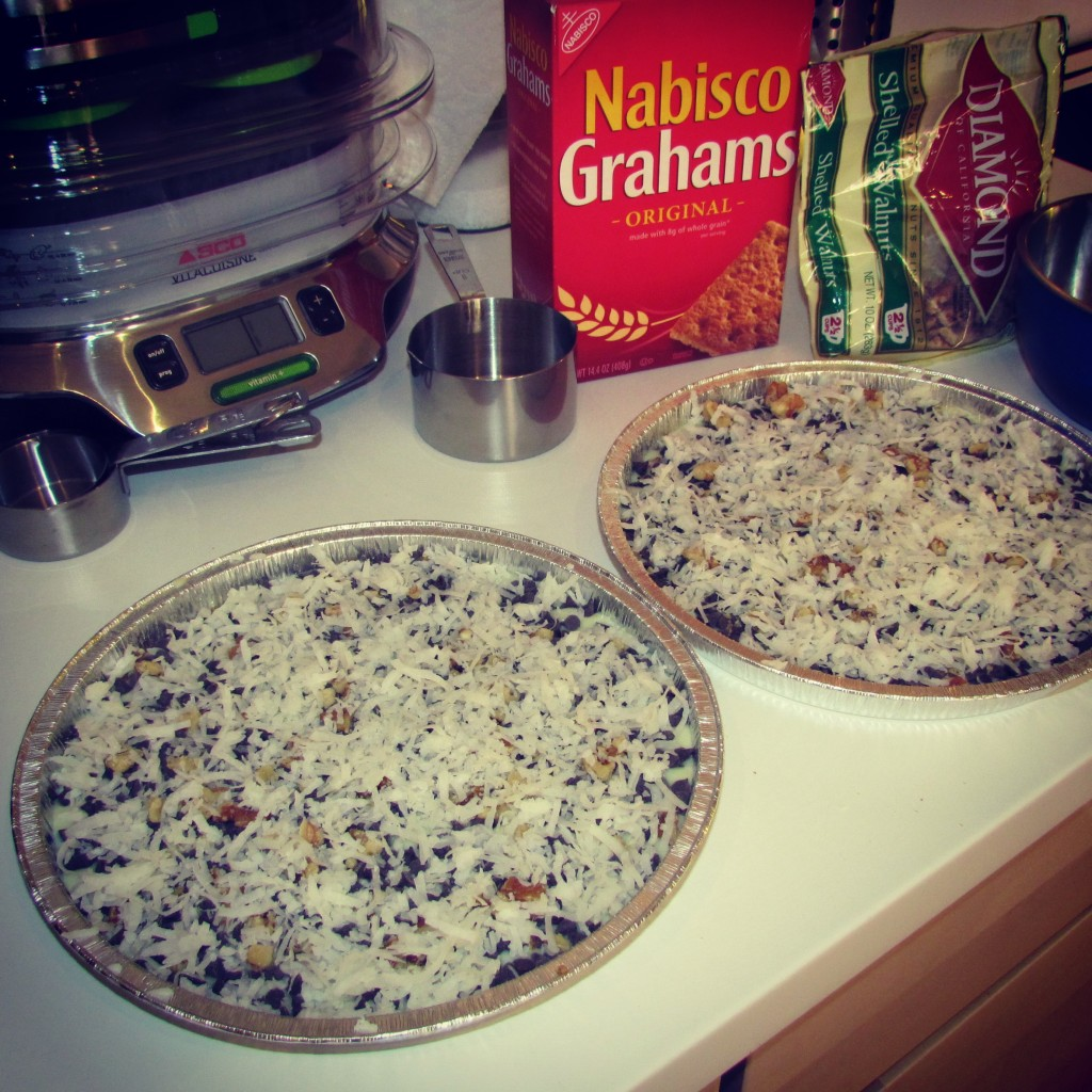 Magic Cookie Bars avec noix de coco