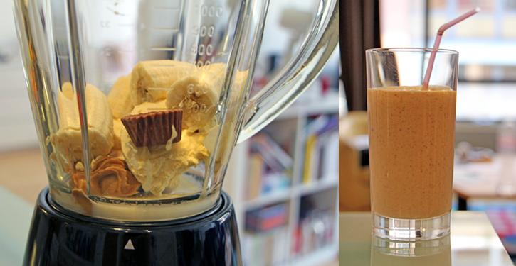 Recette milkshake banane, peanut butter et chocolat