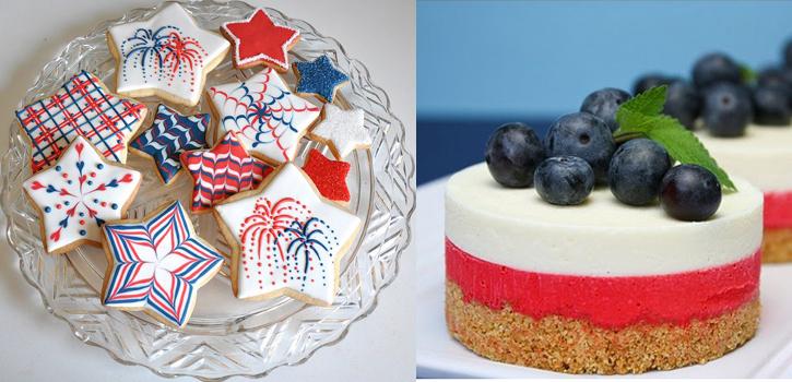 Gâteaux et cookies tricolores