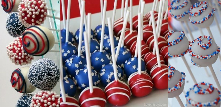 Cake pops bleu blanc rouge pour 14 juillet