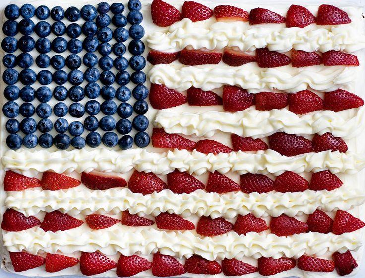 Gâteau en forme de drapeau USA