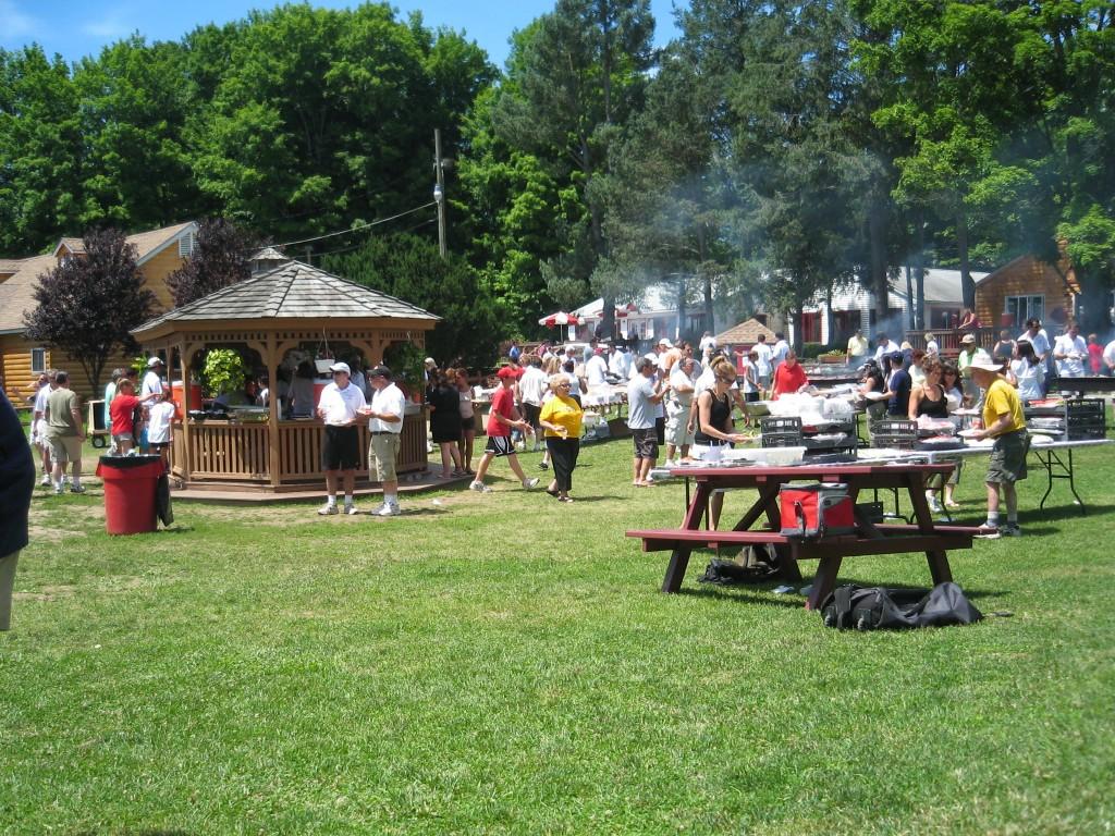 Barbecue américain jour de viste des parents en colo